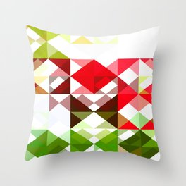 Red Rose with Light 1 Abstract Triangles 1 Throw Pillow