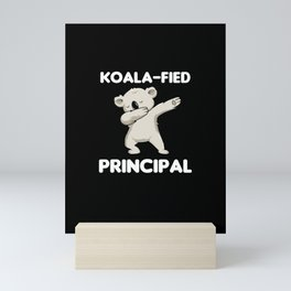 Koalafied Principal Dabbing Koala Appreciation Mini Art Print