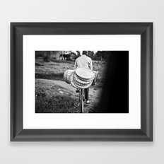 headed to market::uganda Framed Art Print