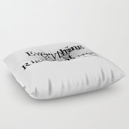 Everything is not Right or Wrong Floor Pillow
