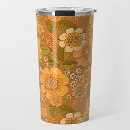 Flower power soft Apricot Travel Mug