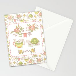 Hare and Tortoise -frame- Stationery Cards