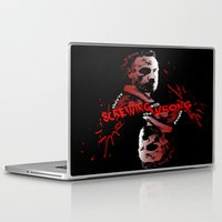 rick grimes Laptop & iPad Skins featuring Rick Grimes by artandawesome