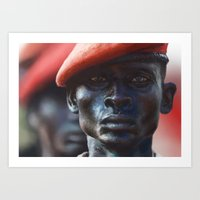 soldier Art Prints featuring Soldier by Pavel Sokov
