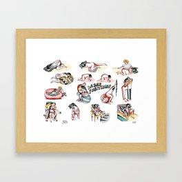Labor Positions Framed Art Print