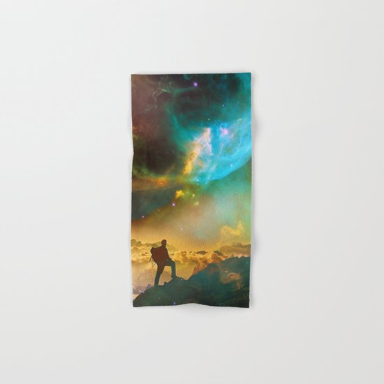 Vibrant Space Hiker Hand & Bath Towel
