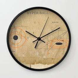 hyper-ball Wall Clock