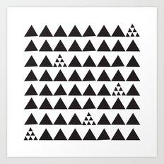 Black geometric print Art Print