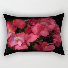 blooming on black -04- Rectangular Pillow