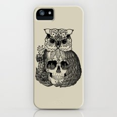 OWL + SKULL + FLOWERS Slim Case iPhone (5, 5s)