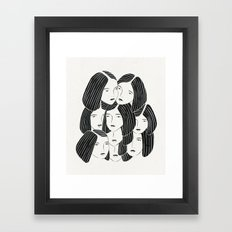 Multiple Girls Framed Art Print