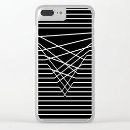 Line Complex Dark Triangle Clear iPhone Case