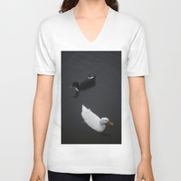 ducks V-neck T-shirts featuring Ducks by Kameron Elisabeth