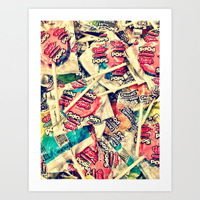 Cotton Candy Pop Art Print