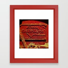 Heavy, red metal Framed Art Print