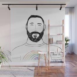 Beard Boy Colour Splash 12 Wall Mural