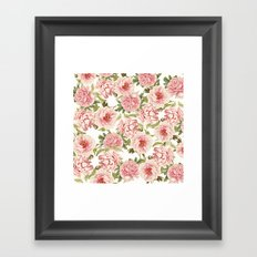 old fashioned peonies Framed Art Print