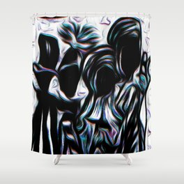 TRIBE.hint of blue Shower Curtain
