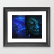 blue balance Framed Art Print