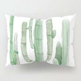 Three Amigos White + Green by Nature Magick Pillow Sham