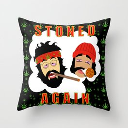 Stoned Again Black Edition Throw Pillow