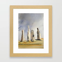 Standing stones at Callanish on the island of Lewis Framed Art Print