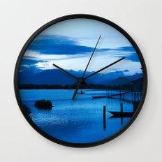 BLUE VIETNAMESE MEDITATION  Wall Clock