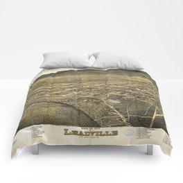 Bird's eye view of Leadville, Lake County, Colorado (1879) Comforters
