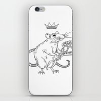 heymonster iPhone & iPod Skins featuring Rat King by heymonster