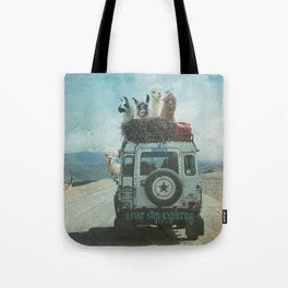 ALPACA WANDERLUST II SUMMER EDITION Tote Bag