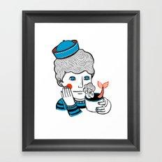 Sailor at Tea Framed Art Print