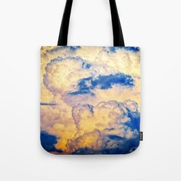 Layers Of Heavy Cumulus Clouds At Sunset Tote Bag