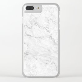 White Marble texture floor background light gray grey texture greek marble print luxuous real marble Clear iPhone Case