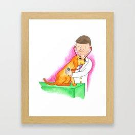 Dr. Chuck the Friendly Veterinarian Framed Art Print