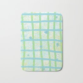 Abstact Lines in Blue and Green Bath Mat