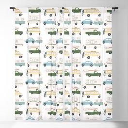 Vintage RV Motorhome Trailers Campers Blackout Curtain