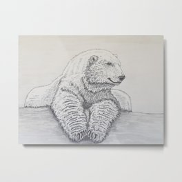 Polar Bear At Rest Metal Print