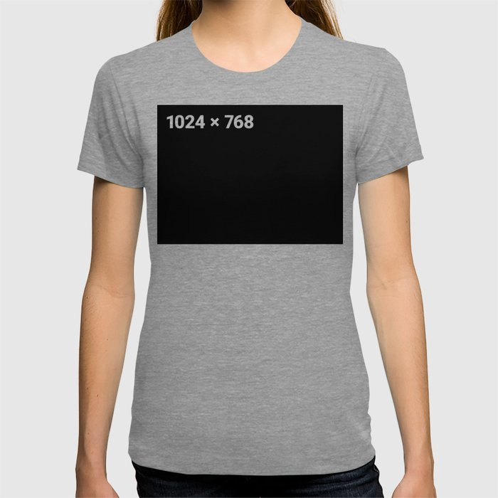 1024 x 768 black panel T-shirt