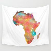 africa Wall Tapestries featuring Africa by jbjart