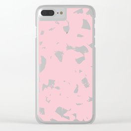 Baby Pastel Pink Brush Strokes Clear iPhone Case