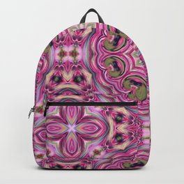 Pink-and-olive relish . Ornament Backpack