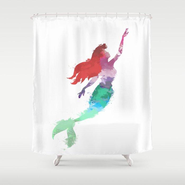 Ariel Little Mermaid Shower Curtain