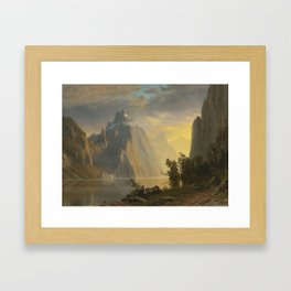 ALBERT BIERSTADT · landscape Framed Art Print