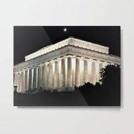 Lincoln at Night Metal Print