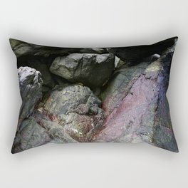 Ocean Weathered Cave Rock Formation Cornwall Rectangular Pillow
