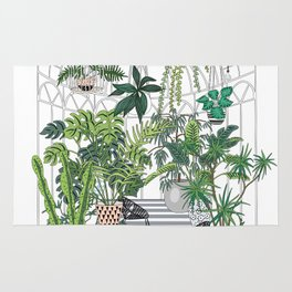 greenhouse illustration Rug