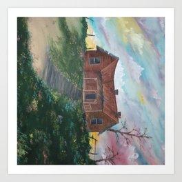 Dreamy skies Art Print