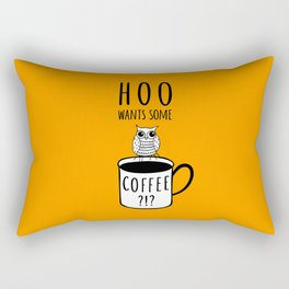 Coffee poster with owl Rectangular Pillow