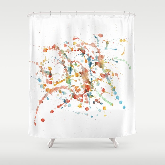 Action Painting #1 Shower Curtain