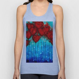 Hearts On Fire - Romantic Art By Sharon Cummings Unisex Tanktop